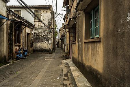 中国古典建筑小巷住宅背景图片