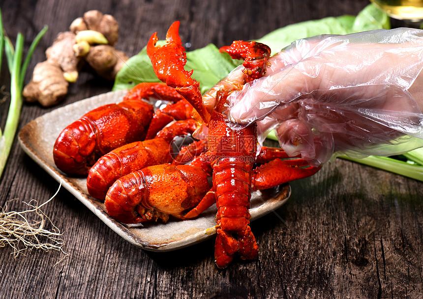 龙虾大虾野生虾海鲜图片