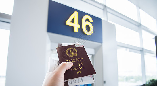 出境登机图片