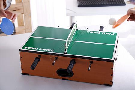 桌面乒乓球图片