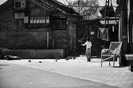 北京老人的秋天图片