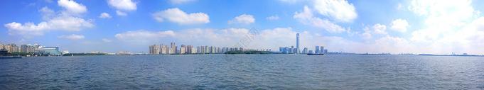 环金鸡湖湖景图片