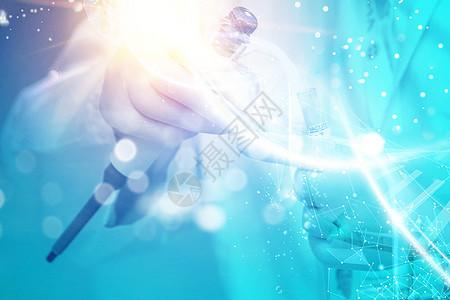 医生背景与DNA 图片
