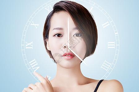 女性老龄化概念图片