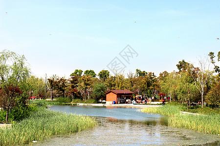 苏州石湖河边图片