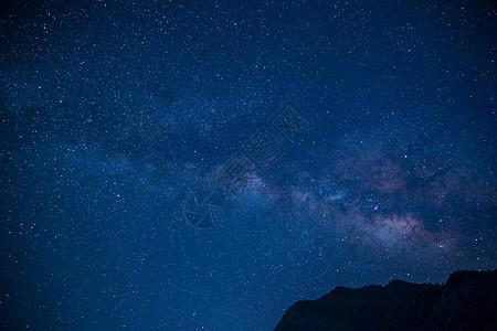 繁星点点的夜空图片