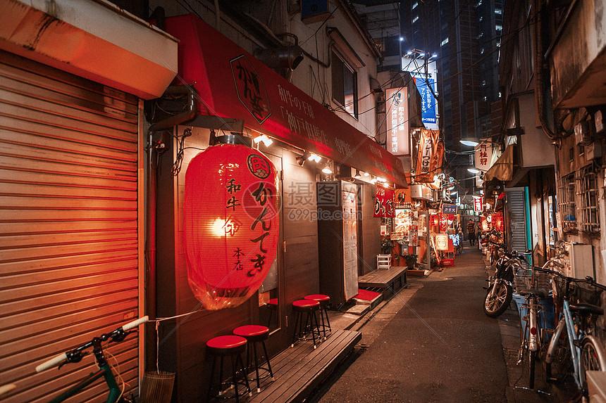 日本街景居酒屋图片