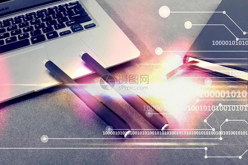 科技感办公桌面图片