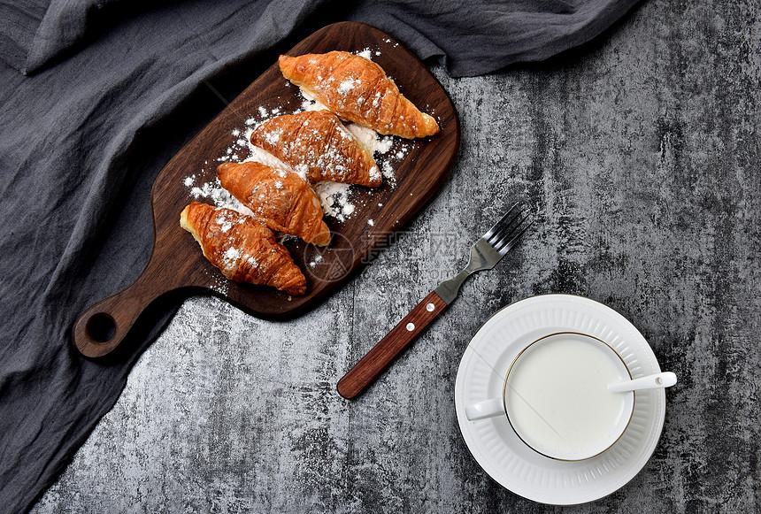自制面包早餐面包图片