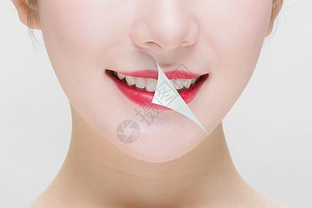 美容与牙齿健康概念图片