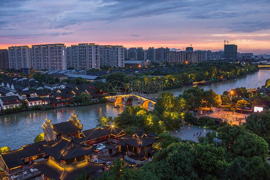 杭州京杭大运河拱宸桥图片