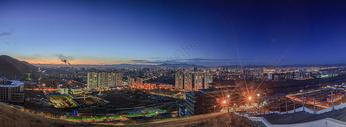 城市夜景天际线全景图图片