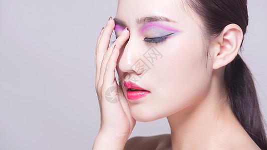 彩妆眼部展示图片