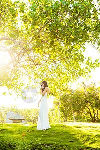 巴厘岛阳光下的美女图片