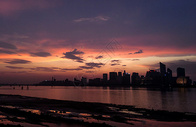 城市夕阳风景图片
