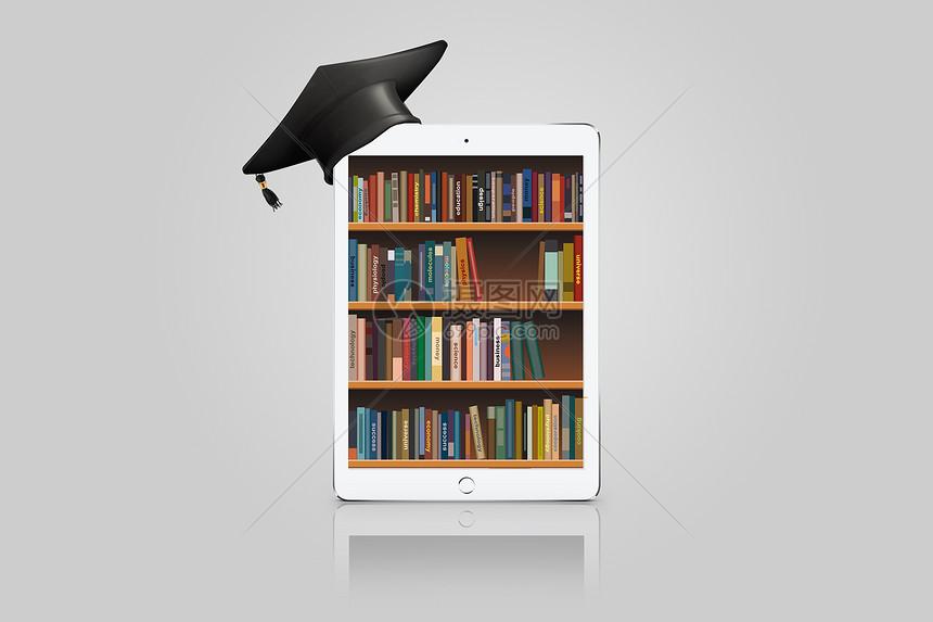 线上的书柜图片