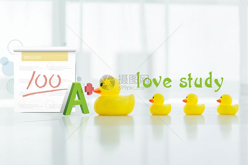 爱学习的鸭子图片