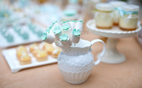 小清新婚礼蛋糕甜点图片