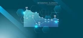 科技金融数据背景图片