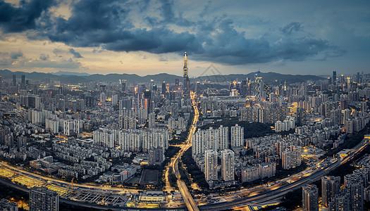 深圳高空城市超清晰大图图片