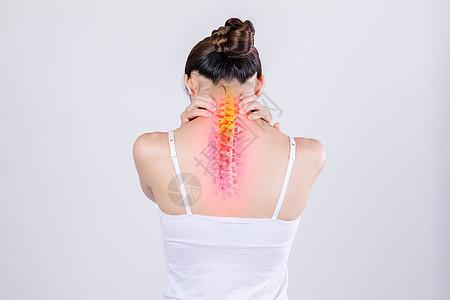 颈肩痛图片
