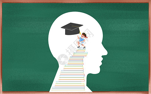 教育思考人头图片