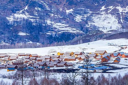 新疆喀纳斯景区禾木村图片