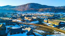 航拍新疆喀纳斯景区禾木村图片