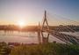 马桑溪大桥日出图片