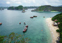 越南下龙湾航拍俯视风景图片