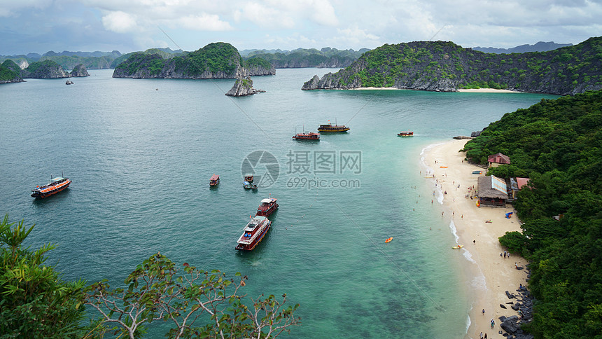 唯美图片 自然风景 越南下龙湾航拍俯视风景jpg  分享: qq好友 微信