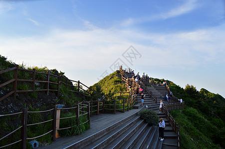 韩国济州岛城山日出峰观景台图片