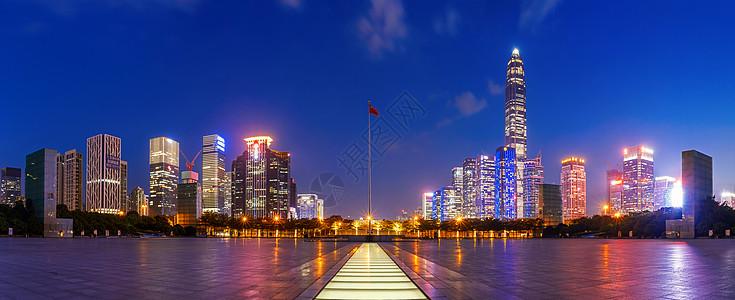 广场城市夜景图片
