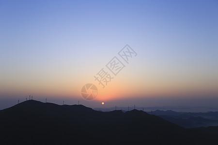 落日山顶图片