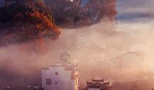 婺源石城秋色山村晨雾景观图片