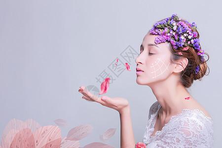 清新美女海报图片