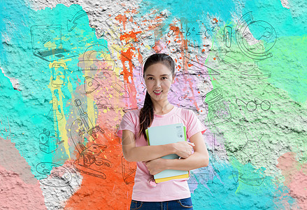 校园涂鸦墙图片