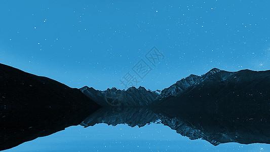 旅游胜地的星空倒影图片