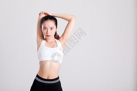 运动健身热身动作图片