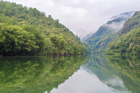 清晨的峡谷薄雾笼罩图片