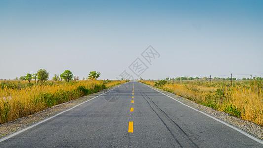 新疆沙漠公路图片