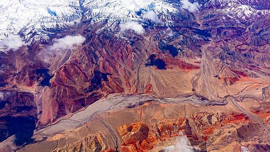 航拍中国西北高原图片