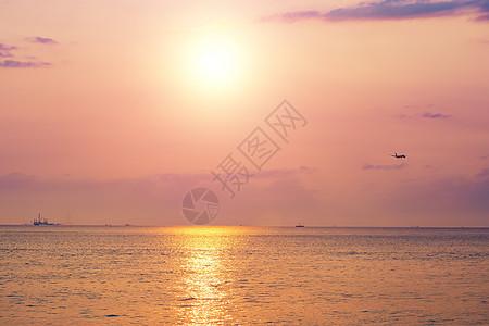 香港海边日落图片
