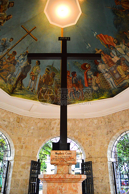 菲律宾宿雾麦哲伦十字架图片