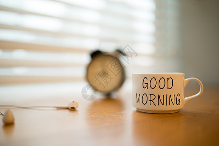早安咖啡杯文艺配图图片