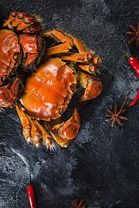 美味的大闸蟹图片