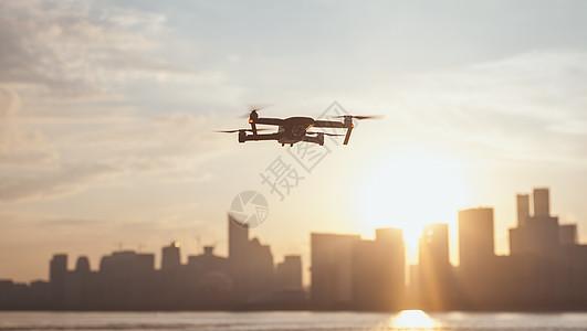 无人机航拍城市图片