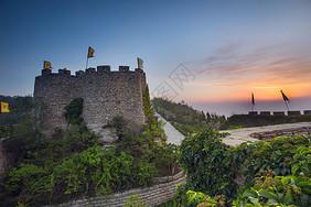 城墙城楼黎明高清下载图片