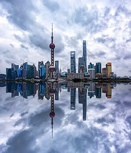 上海倒影图片