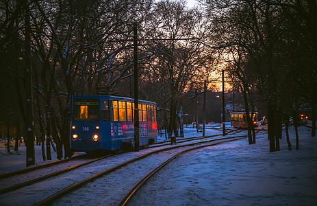 冬天美丽的雪景 图片